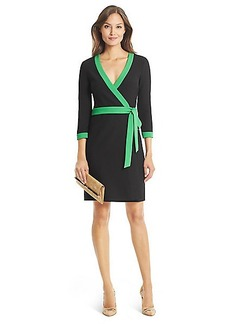 DVF Taryn Banded Ceramic Wrap Dress