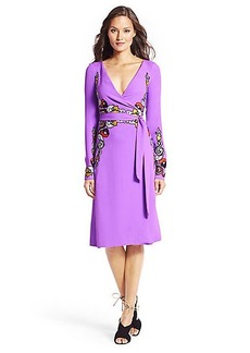DVF Violette Woven Wrap Dress