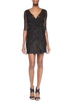 Elisabeth Jersey/Lace Wrap Dress   Elisabeth Jersey/Lace Wrap Dress