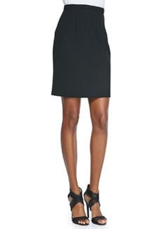 Eliza Pleated-Back Pencil Skirt   Eliza Pleated-Back Pencil Skirt