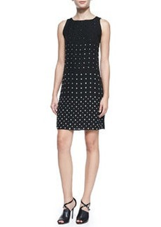Ella Sleeveless Jewel-Studded Dress   Ella Sleeveless Jewel-Studded Dress