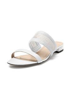 Flavia Mesh Inset Flat Sandal