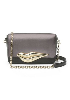 Flirty Mini Metallic Leather Crossbody Bag
