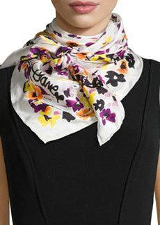 Floral-Print Silk Twill Scarf   Floral-Print Silk Twill Scarf