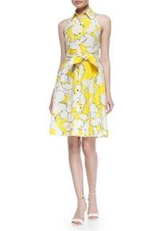 Diane von Furstenberg Floral-Print Tie-Waist Dress