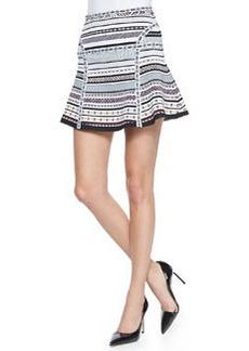 Flote Banded Dot Flounce Skirt   Flote Banded Dot Flounce Skirt