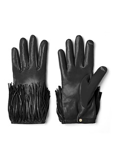 Fringe Leather Gloves