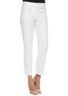 Diane von Furstenberg Gennifer Cropped Skinny Pants, White