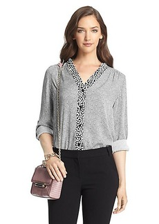 Harlow Printed Silk Blouse