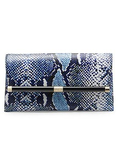 Heritage Print Leather Envelope Clutch