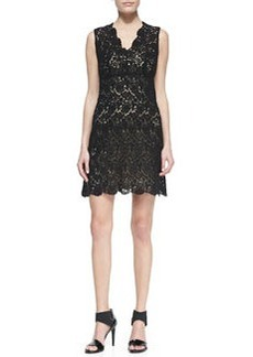 Hippolyte Sleeveless V-Neck Lace Cocktail Dress, Black   Hippolyte Sleeveless V-Neck Lace Cocktail Dress, Black