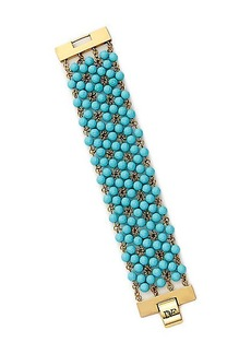 Honey Turquoise Faceted Bead Bracelet