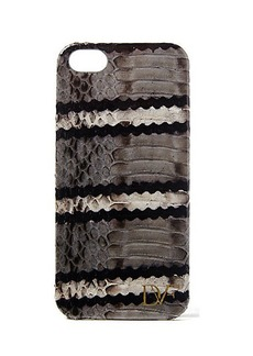 iPhone 5 Striped Snake Leather Case