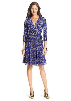 Irina Silk Combo Flirty Wrap Dress