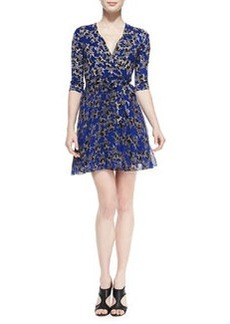 Irina Star-Print Wrap Dress   Irina Star-Print Wrap Dress