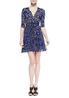 Irina Star-Print Wrap Dress   Irina Star-Print Wrap Dress