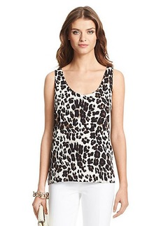 Jackie Printed Silk Tank Top