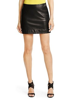 Jay Leather Combo Mini Skirt