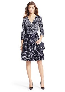 Jewel Silk Combo Pleated Wrap Dress
