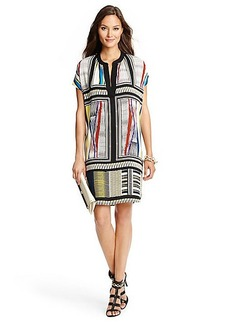 Joanna Printed Silk Tunic Dress