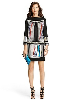 Jocelyn Boatneck Printed Silk Dress