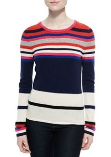 Jolanta Striped Crewneck Pullover   Jolanta Striped Crewneck Pullover