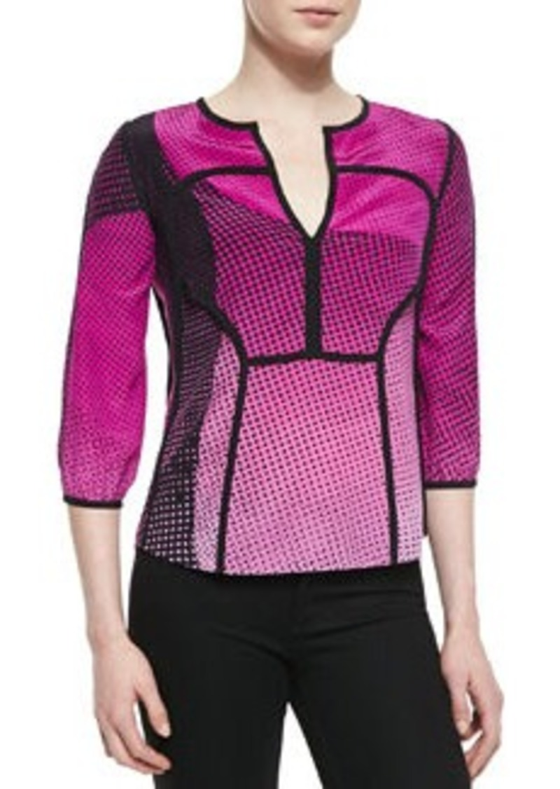 Kaia Speckle Weave Print Top   Kaia Speckle Weave Print Top