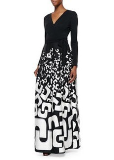 Kailey Tie-Waist Printed Maxi Dress   Kailey Tie-Waist Printed Maxi Dress
