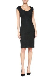 Katrina Cap-Sleeve Lace Sheath Dress   Katrina Cap-Sleeve Lace Sheath Dress