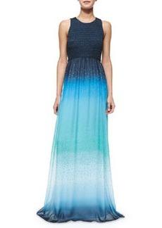 Diane von Furstenberg Konfetti Ombre Maxi Dress, Blue