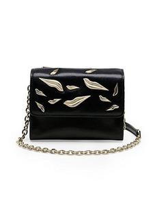 Lips Micro Mini Leather Crossbody Bag