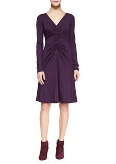 Long-Sleeve Ruched A-line Dress   Long-Sleeve Ruched A-line Dress