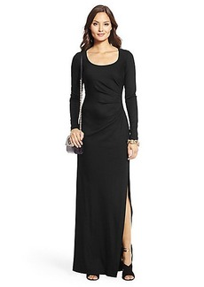 Long Sleeve Wool Knit Gown
