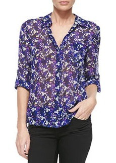 Lorelei Printed Silk Blouse   Lorelei Printed Silk Blouse