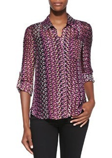 Lorelei Two Printed Button-Down Blouse   Lorelei Two Printed Button-Down Blouse