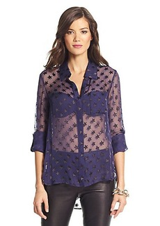 Lorelei Two Star Burnout Chiffon Blouse