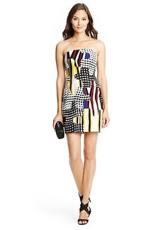 Maria Puzzle Piece Strapless Dress
