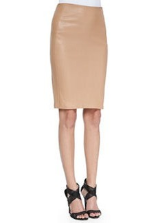 Marta Paneled Leather Pencil Skirt   Marta Paneled Leather Pencil Skirt