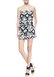 Miranda Crinkle Strapless Short Jumpsuit   Miranda Crinkle Strapless Short Jumpsuit