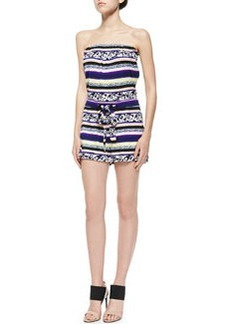 Miranda Striped Strapless Short Jumpsuit   Miranda Striped Strapless Short Jumpsuit