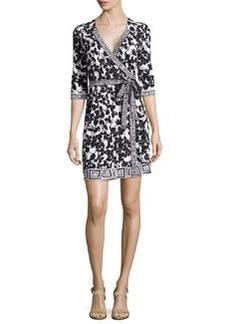 Diane von Furstenberg New Julian Mixed-Print Silk Wrap Dress