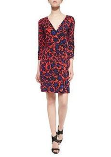 New Julian Two 3/4-Sleeve Printed Wrap Dress   New Julian Two 3/4-Sleeve Printed Wrap Dress