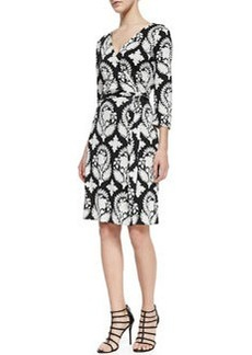 New Julian Two Indian Brocade-Print Wrap Dress   New Julian Two Indian Brocade-Print Wrap Dress