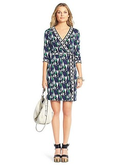New Julian Two Mini Banded Silk Jersey Wrap Dress