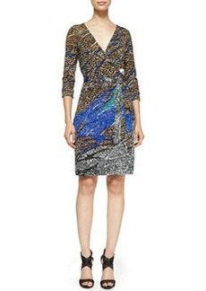 New Julian Two Printed Wrap Dress   New Julian Two Printed Wrap Dress