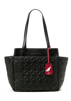 On The Go Chainlink Quilted Leather Tote