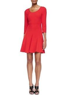 Paloma Scoop-Neck Flare Dress   Paloma Scoop-Neck Flare Dress