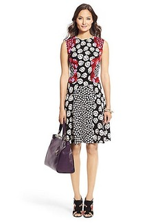 Paris Combo Print Flirty Dress