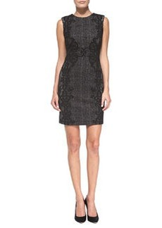 Pentra Lace/Tweed Sheath Dress   Pentra Lace/Tweed Sheath Dress