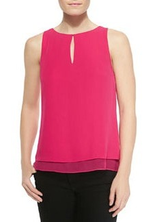 Raica Sleeveless Layered Top W/ Keyhole   Raica Sleeveless Layered Top W/ Keyhole